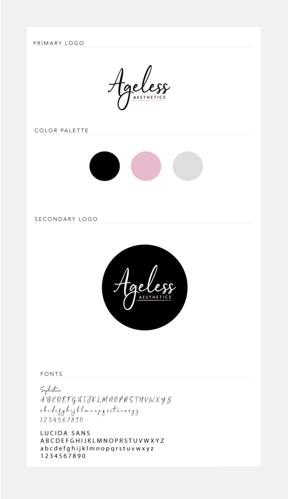 Ageless Aesthetics Branding