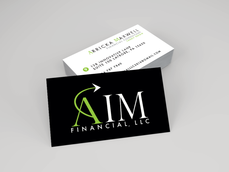 AIM FInancial Business Card Design