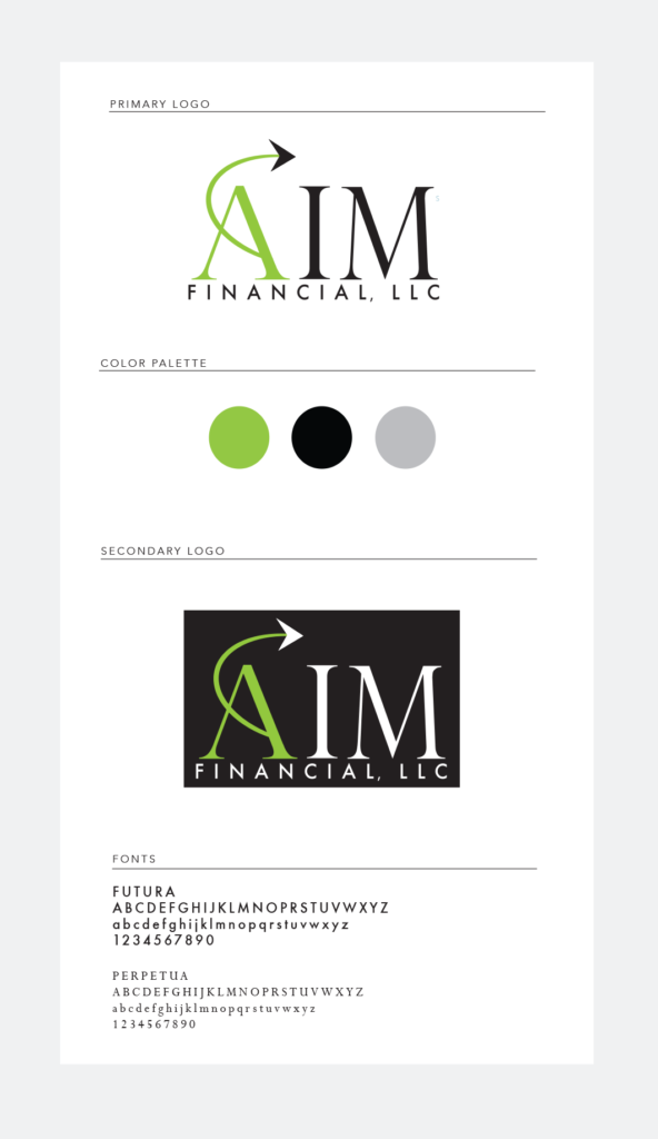AIM Financial Logo and Branding