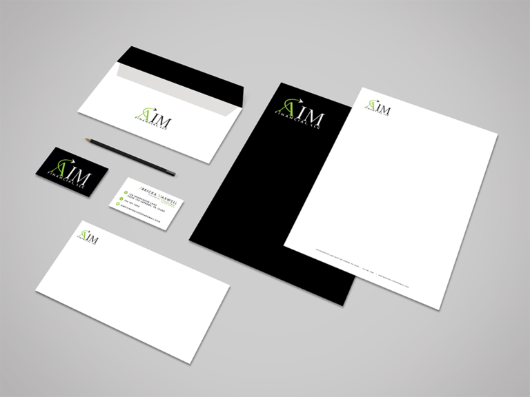 AIM Financial Stationary Branding Design