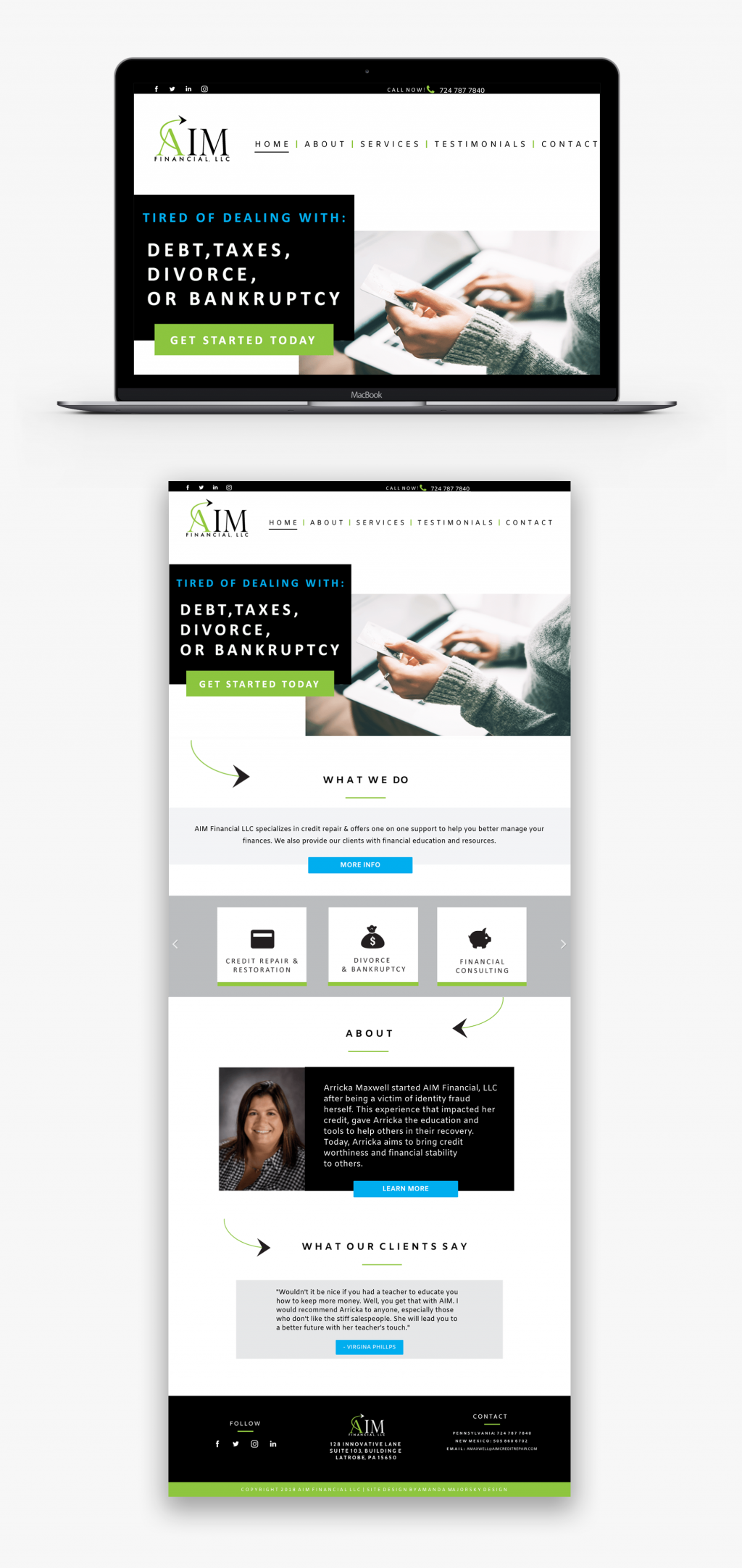 AIM Financial Web Design