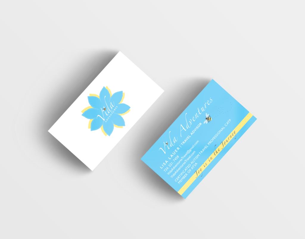 Vida Adventures Business Card Design