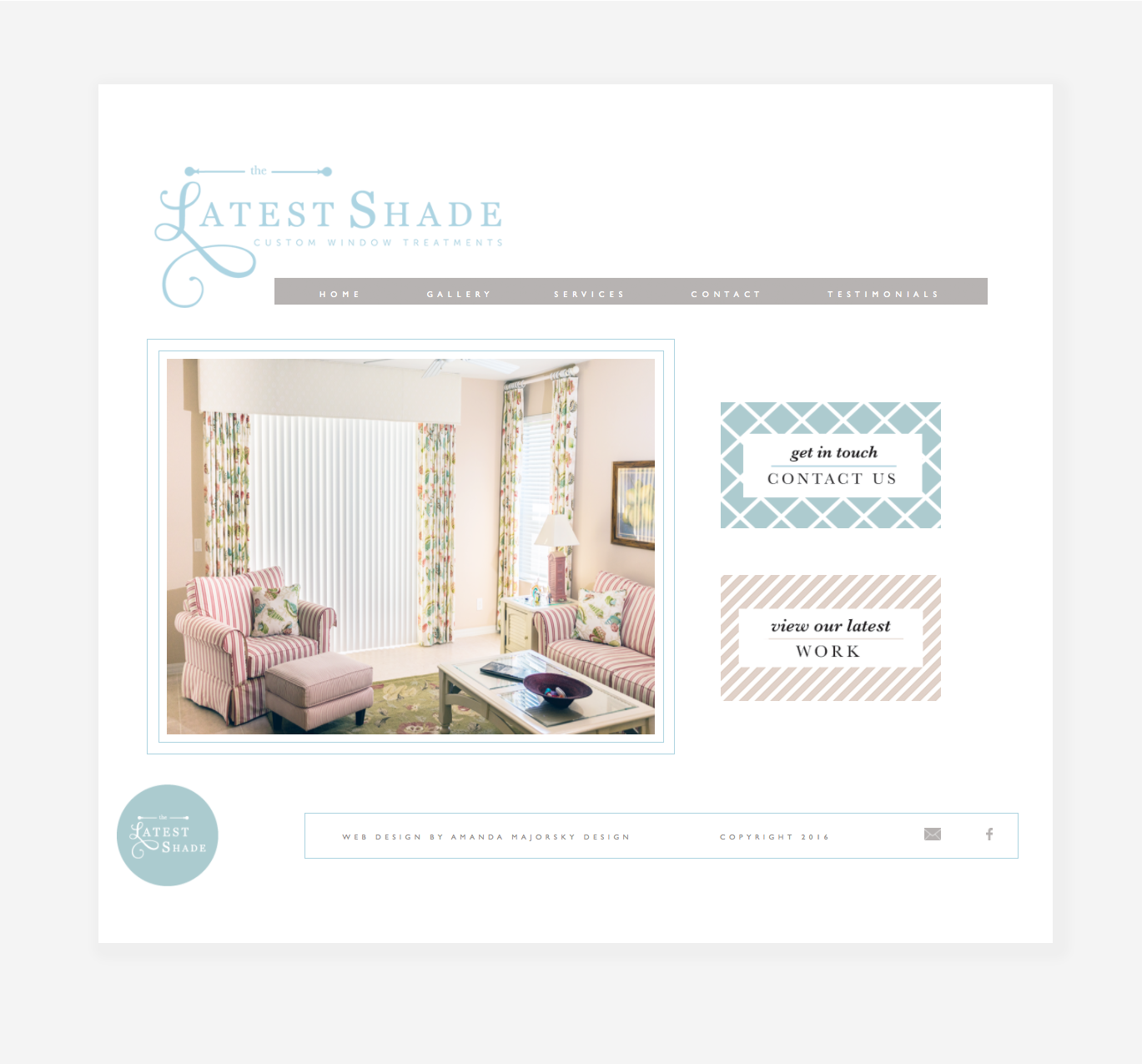 The Latest Shade Homepage Web Design